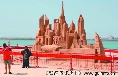 迪拜海滩新名片:沙雕 居民休闲娱乐地标