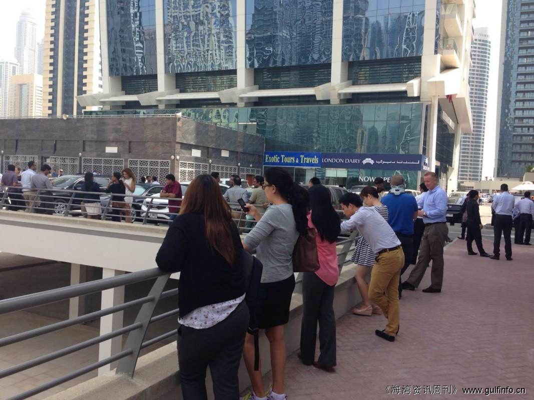 伊朗地震,迪拜有明显震感