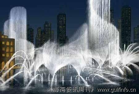 迪拜dubai mall 音乐喷泉