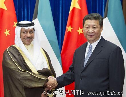 习近平会见科威特首相贾比尔