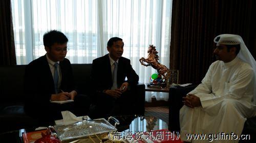 唐卫斌总领事会见迪拜投资促进署首席执行官