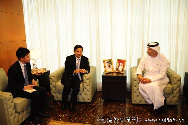 唐卫斌总领事会见迪拜社会发展局局长