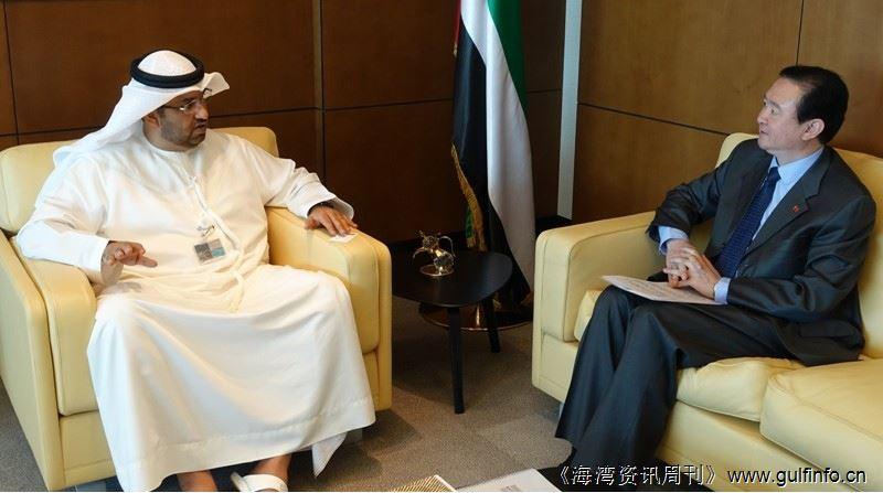 驻阿联酋大使常华会见阿国务部长苏尔坦