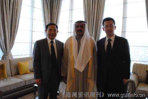唐卫斌总领事会见迪拜副酋长