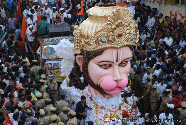 印度教徒庆祝Ram Navami节日