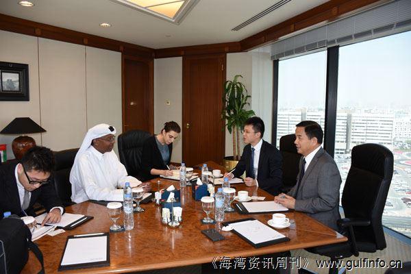 唐卫斌总领事会见迪拜工商会高级副总裁