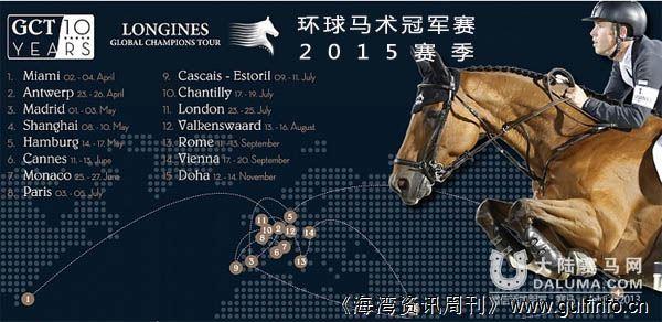 即将登陆上海的环球马术冠军赛,今年11月份将移师于卡塔尔多哈
