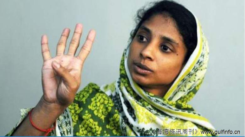 卡拉奇的一位印度小女孩说:我很想念妈妈,爸爸