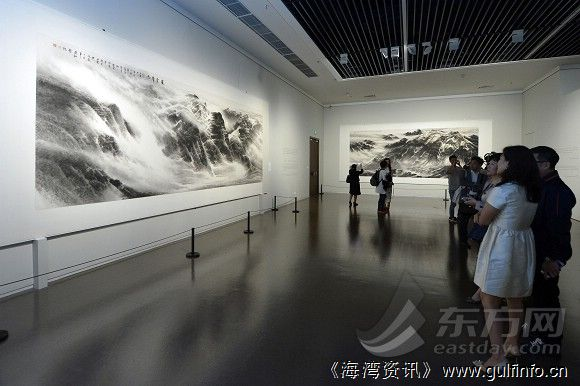 《吞吐大荒》许钦松山水画展中华艺术宫开幕[图]