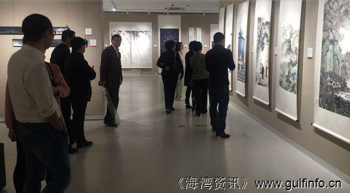 沪港名家书画展举行 两地画派百花争艳