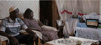 非洲农村地区能用太阳能电视看新闻了
