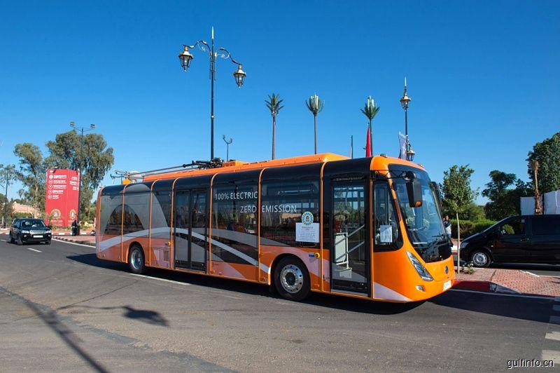 中国零排放电动公交车在摩洛哥上路
