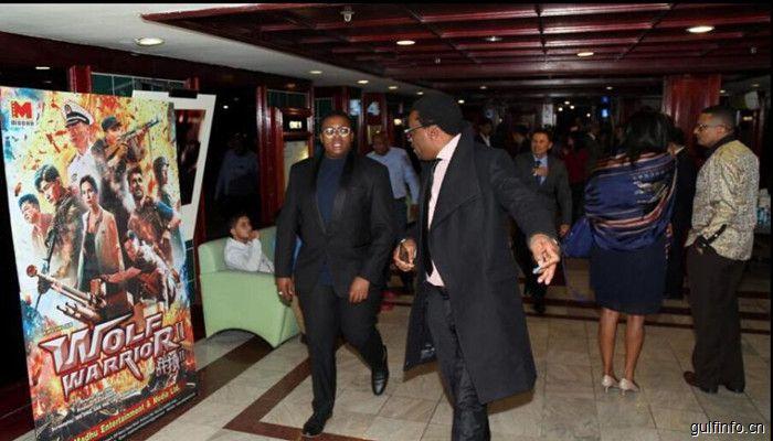 中国驻南非使馆举行电影《战狼2》观影招待会