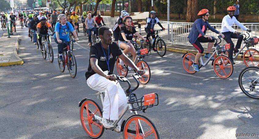 中国共享单车橙色旋风闪现肯尼亚街头