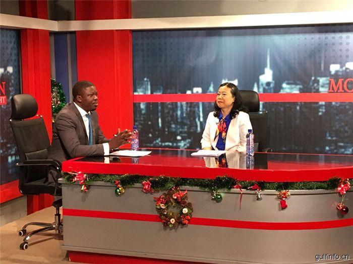 驻加纳大使孙保红接受加纳国家电视台采访