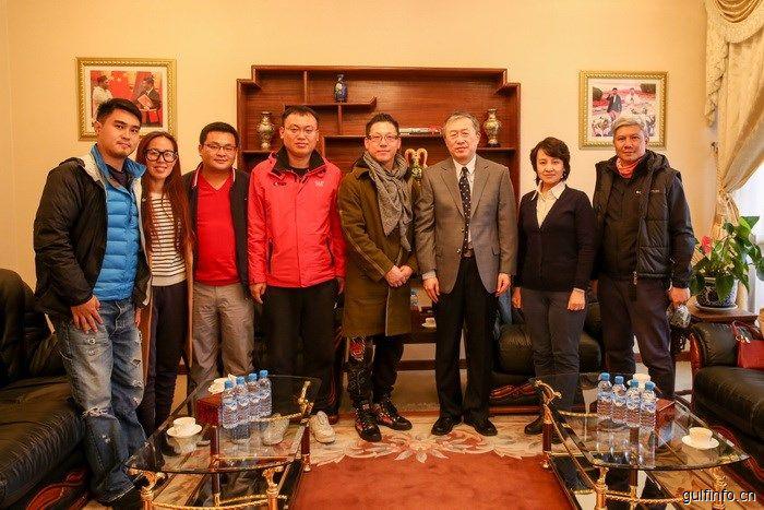 驻摩洛哥使馆文化参赞探班中国电视剧《莫语者》拍摄现场,鼓励中摩两国更多文化交流