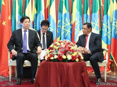 栗战书对埃塞俄比亚进行正式友好访问
