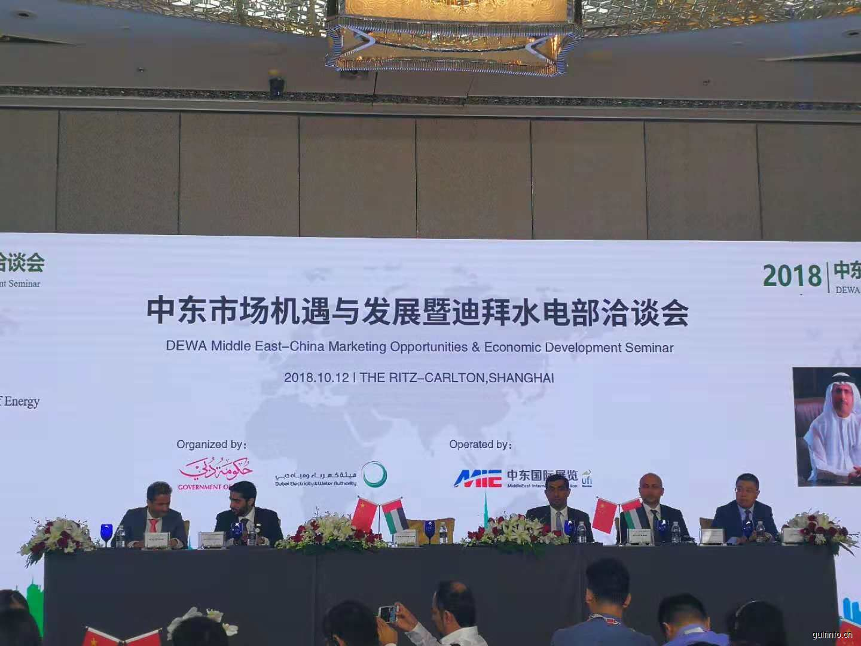 2018迪拜水电部政府采购项目洽谈会在沪召开