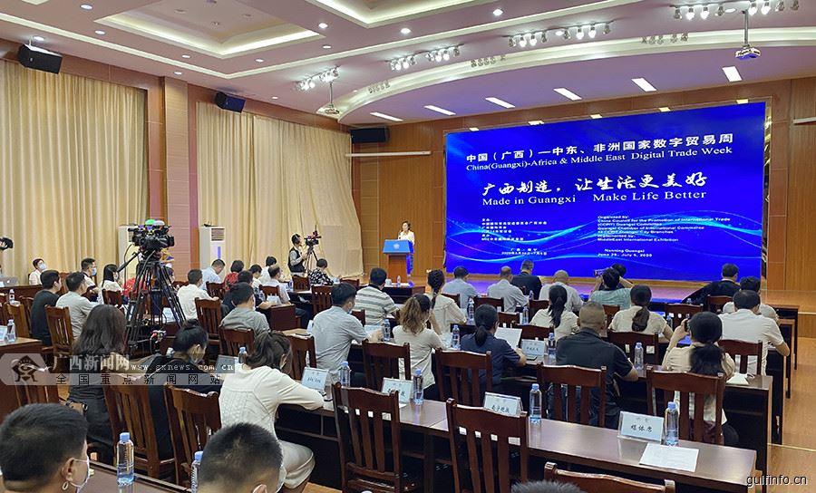 中国(广西)—中东、非洲国家数字贸易周开幕